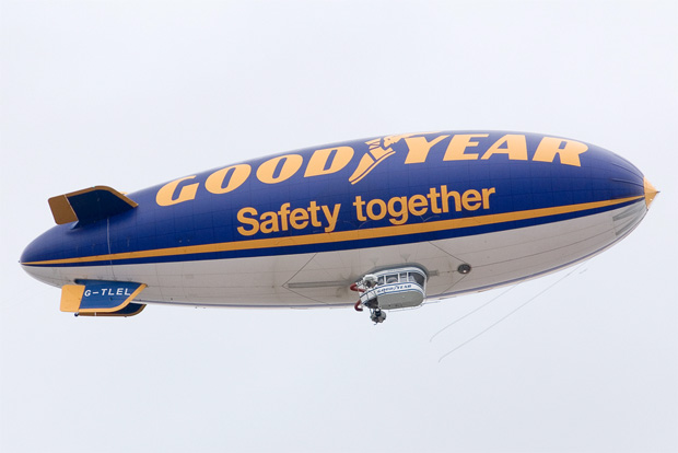 Goodyear blimp Spirit of Safety G-TLEL over Birmingham, England