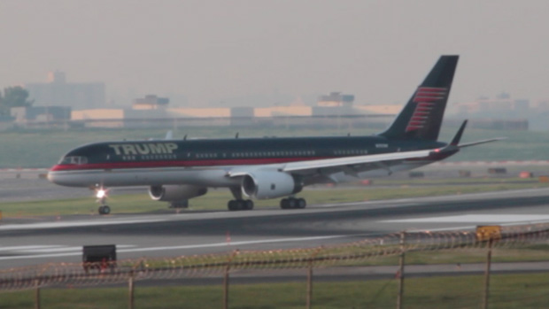 Donald Trump Boeing 757 N757AF at LaGuardia Airport LGA New York