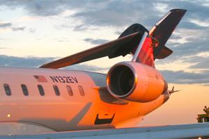 Delta Atlantic Southeast CRJ-900 tail damage N132EV Boston