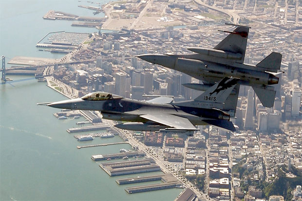 Air National Guard F-16 fighter jets