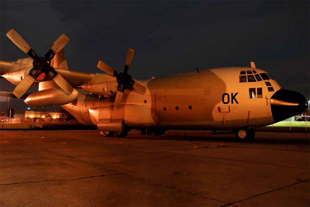 Moroccan C-130 parked at Stewart Airport SWF during the UN National Assembly in 2008