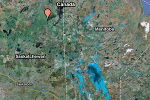 Saskatchewan plane crash map