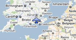 Shoreham-by-Sea plane crash map