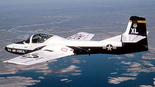 US Air Force version of the Cessna T-37 Tweet jet trainer