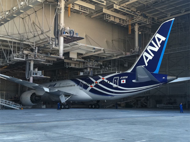 ANA first Boeing 787 Dreamliner JA801A