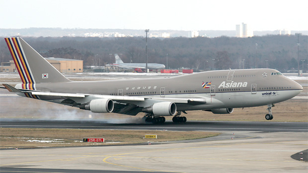 Asiana Airlines Boeing 747-400F HL7417