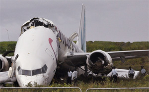 Caribbean Airlines 737-800 crash at Guyana Georgetown Airport