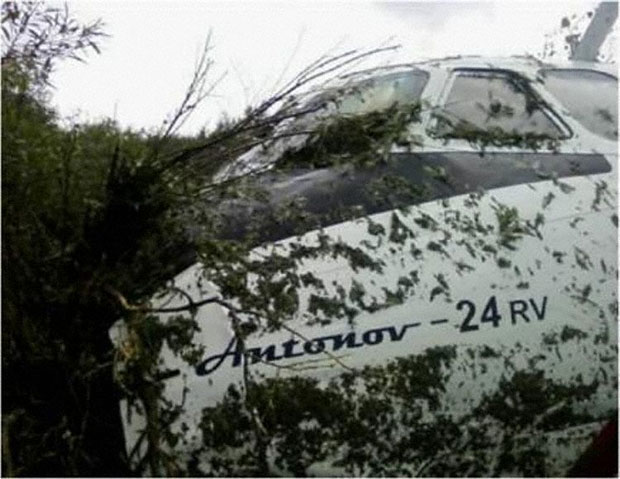 IrAero Antonov An-24 RA-46561 after crashing in Blagoveshchensk, Russia