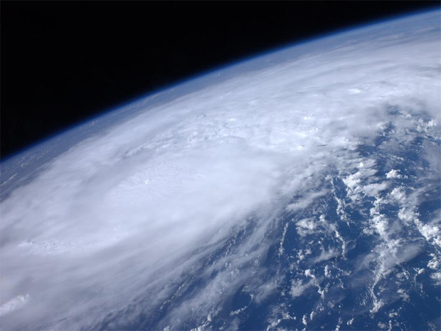 Hurricane Irene as photographed from the International Space Station