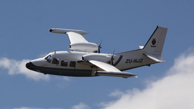 Piaggio P.166 Albatross ZU-NJZ over South Africa