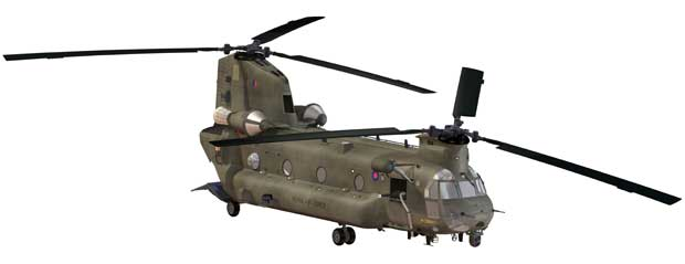 Illustration of the RAF Boeing CH-47 Mk-6 Chinook