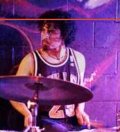 A man believed to be accused terror plotter Rezwan Ferdaus playing drums in Goosepimp Orchestra.