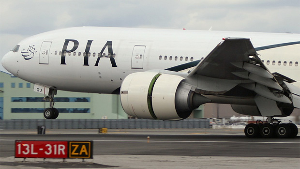 Pakistan International Airlines PIA Boeing 777-200ER AP-BGJ at JFK AIrport