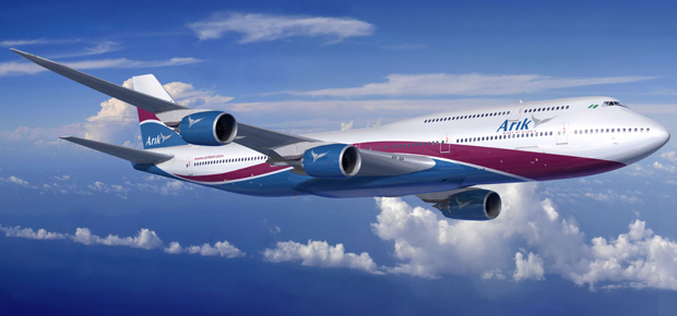 Boeing rendering of an Arik Air 747-8 Intercontinental