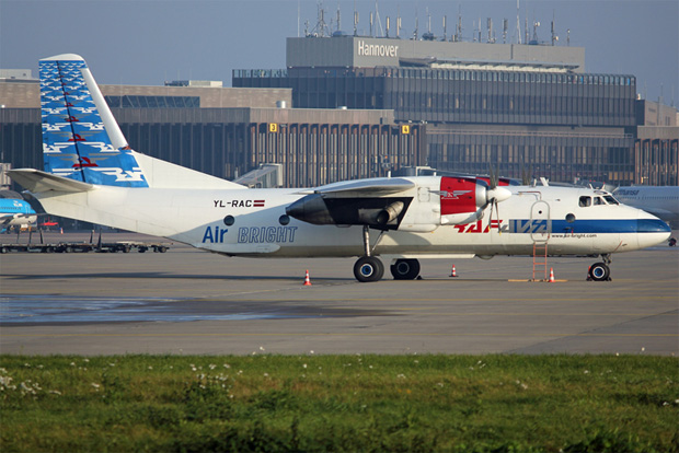Air Bright Antonov An-26B at Hannover, Germany.