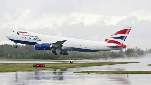The first British Airways World Cargo/Atlas Air Boeing 747-8 Freighter G-GSSD