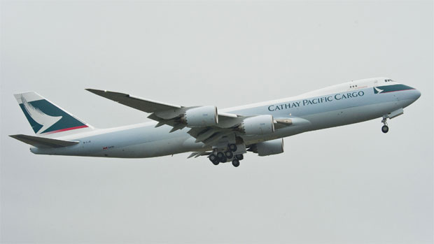 Cathay Pacific first Boeing 747-8 Freighter takes off