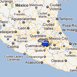Mexico Interior Secretary helicopter crash map