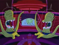 kang and kodos on the simpsons