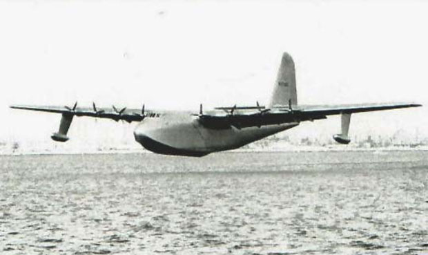Howard Hughes flew the Hercules about one mile at an altitude of 70 feet