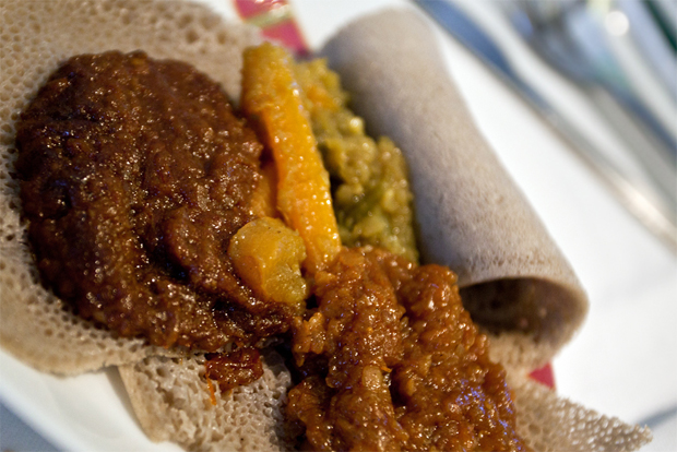 Ethiopian Airlines business class meal