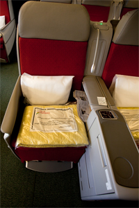 Ethiopian Airlines business class seat