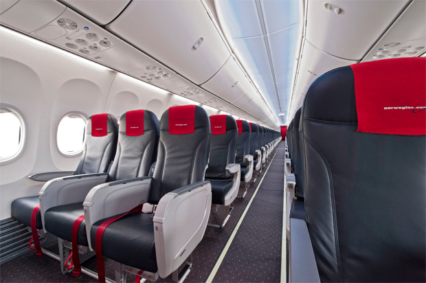 Norwegian Air Shuttle's first 737 with Boeing Sky Interior