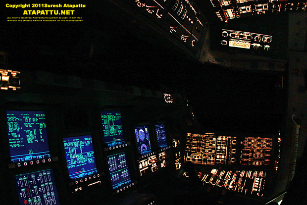 The pilot seat of Atlantis as viewed from the commander seat