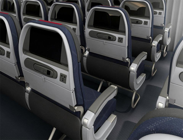 American Airlines Boeing 777-300ER economy class seats