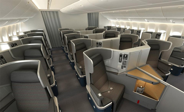 Business Class on American Airlines Boeing 777-300ER
