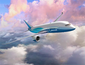 Original concept rendering of the 7E7 Dreamliner