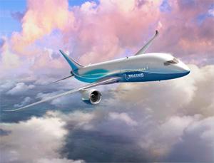 Original concept rendering of the 7E7 Dreamliner