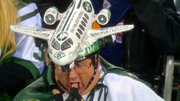 This Jets fan is clearly ready for the new service.