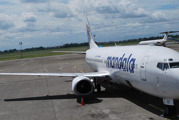 Mandala Airlines Boeing 737-400 at Indonesia's Soekarno-Hatta International Airport