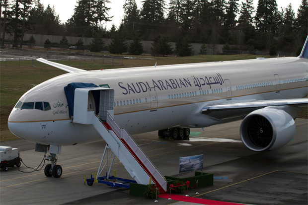First Boeing 777-300ER for Saudi Arabian Airlines, registered HZ-AK11